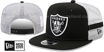 Raiders 'SIDE-STRIPE TRUCKER SNAPBACK' Black Hat by New Era