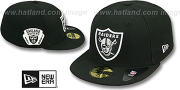 Raiders 'SIDE TEAM-PATCH' Black Fitted Hat by New Era