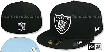 Raiders 'SKY-BOTTOM' Black Fitted Hat by New Era