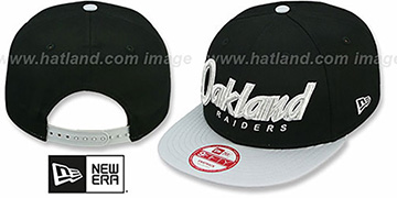 Raiders 'SNAP-IT-BACK SNAPBACK' Black-Grey Hat by New Era