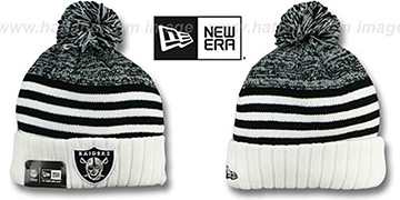 Raiders 'SNOWFALL STRIPE' Knit Beanie Hat by New Era