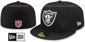 Raiders STADIUM SHADOW Black Fitted Hat by New Era