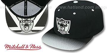 Raiders 'STOP-ON-A-DIME SNAPBACK' Black-Grey Hat by Mitchell and Ness