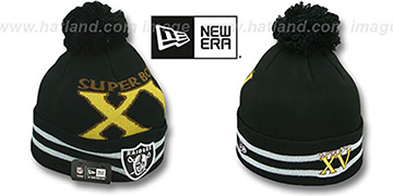 Raiders 'SUPER BOWL XV' Black Knit Beanie Hat by New Era