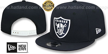 Raiders 'TEAM-BASIC SNAPBACK' Navy-White Hat by New Era