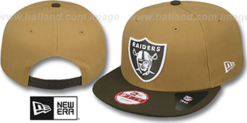 Raiders 'TEAM-BASIC SNAPBACK' Wheat-Brown Hat by New Era