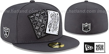 Raiders 'TEAM-CARDS' Charcoal Fitted Hat by New Era