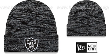 Raiders TEAM-CRAZE Black-Grey Knit Beanie Hat by New Era