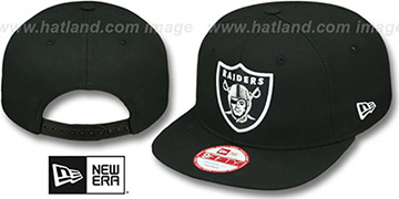 Raiders 'TEAM-LOGO SNAPBACK' Black Hat by New Era