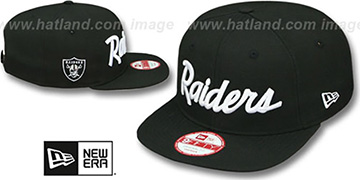 Raiders 'TEAM-SCRIPT SOCAL SNAPBACK' Black Hat by New Era