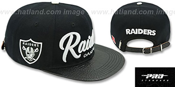 Raiders TEAM-SCRIPT STRAPBACK Black Hat by Pro Standard