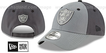 Raiders THE-LEAGUE GREY-POP STRAPBACK Hat by New Era