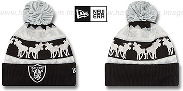 Raiders 'THE-MOOSER' Knit Beanie Hat by New Era