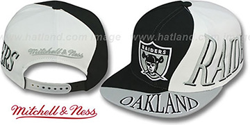 Raiders 'THE SKEW SNAPBACK' Hat by Mitchell and Ness