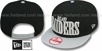 Raiders 'THROUGH SNAPBACK' Black-Grey Hat by New Era