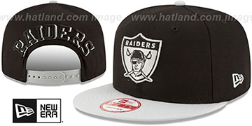 Raiders 'THROWBACK SHADOW SLICE SNAPBACK' Black-Grey Hat by New Era
