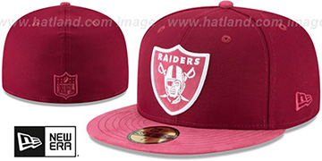 Raiders TONAL-CHOICE Burgundy Fitted Hat by New Era