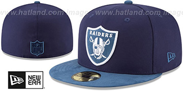 Raiders 'TONAL-CHOICE' Navy Fitted Hat by New Era