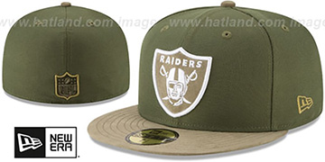 Raiders TONAL-CHOICE Rifle Green Fitted Hat by New Era