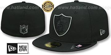 Raiders TONAL-POP Black-Charcoal Fitted Hat by New Era