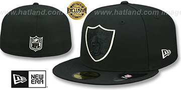 Raiders TONAL-POP Black-Silver Fitted Hat by New Era
