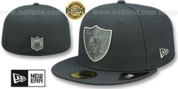 Raiders TONAL-POP Charcoal-Pewter Fitted Hat by New Era