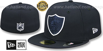 Raiders 'TONAL-POP' Navy-White Fitted Hat by New Era