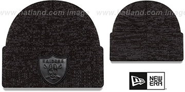 Raiders 'TONAL TRICK' Black-Grey Knit Beanie Hat by New Era