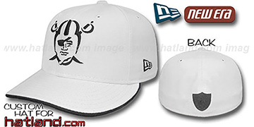Raiders TRACE FLIP Fitted Hat - white