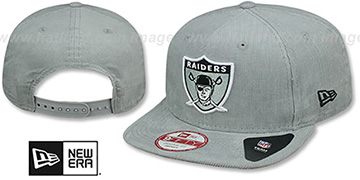 Raiders VINTAGE CORD SNAPBACK Grey Hat by New Era