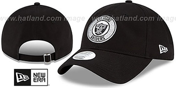 Raiders 'WOMENS SPARKLE STRAPBACK' Black Hat by New Era