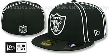 Raiders 'Y2K SOUTACHE' Black Fitted Hat by New Era
