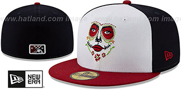 Rainiers 'COPA' White-Navy-Burgundy Fitted Hat by New Era