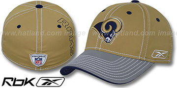Rams 2008-09 SIDELINE-2 FLEX Tan-Grey Hat by Reebok