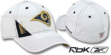 Rams 2010 DRAFT-DAY FLEX White Hat by Reebok