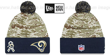 Rams 2015 SALUTE-TO-SERVICE Knit Beanie Hat by New Era