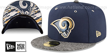 Rams '2016 NFL DRAFT' Fitted Hat by New Era