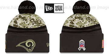 Rams '2016 SALUTE-TO-SERVICE' Knit Beanie Hat by New Era