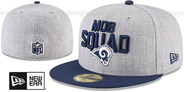 Rams 2018 ONSTAGE Grey-Navy Fitted Hat by New Era
