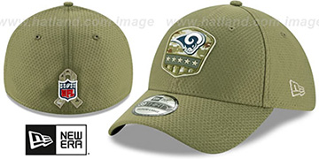 Rams 2019 SALUTE-TO-SERVICE FLEX Olive Hat by New Era