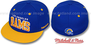 Rams '2T CLASSIC-ARCH' Royal-Gold Fitted Hat by Mitchell & Ness