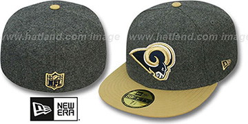Rams '2T NFL MELTON-BASIC' Grey-Gold Fitted Hat by New Era