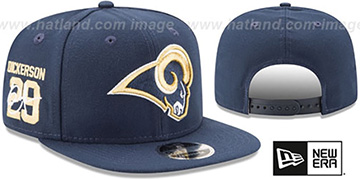 Rams DICKERSON SIDE-SIGN SNAPBACK Navy Hat by New Era