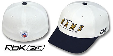 Rams 'EQUIPMENT-FLEX' White-Navy Hat by Reebok