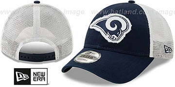 Rams FRAYED LOGO TRUCKER SNAPBACK Hat by New Era