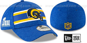 Rams NFL SUPER BOWL LIII ONFIELD FLEX Royal Hat by New Era