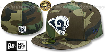 Rams NFL TEAM-BASIC Army Camo Fitted Hat by New Era