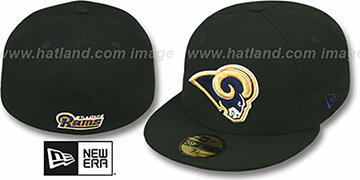 Rams NFL TEAM-BASIC Black Fitted Hat by New Era