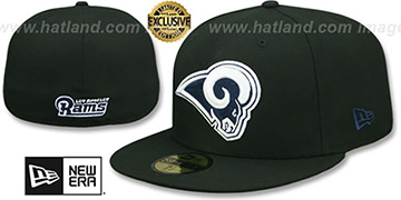 Rams NFL TEAM-BASIC Black-Navy Fitted Hat by New Era