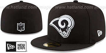 Rams NFL TEAM-BASIC Black-White Fitted Hat by New Era